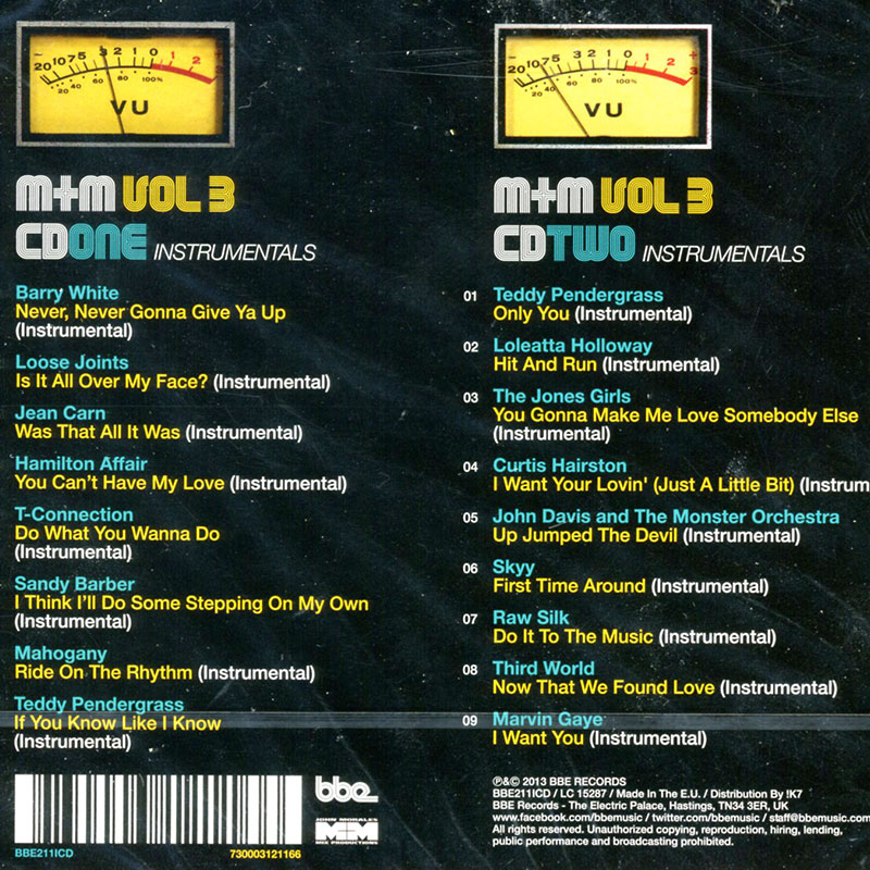 MM Vol3 Instrumentals CD Back